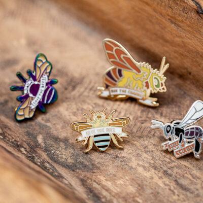 native bee pins
